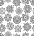 Seamless pattern with mandala monochrom vector image