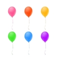 Set of six colorful balloons vector image