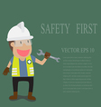 Technician full with Personal Protection Equipment vector image