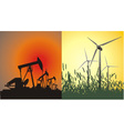 Conventional and renewable energy generation vector image