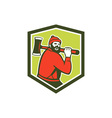 Paul Bunyan LumberJack Carrying Axe vector image vector image