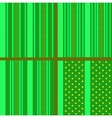 Green striped stars patterns vector image vector image