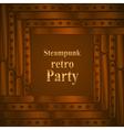 Steampunk retro partyframe vector image