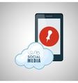 Social media design smartphone icon networking vector image