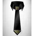 Abstract retro cravat tie with stud vector image