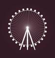 big ferris wheel icon vector image
