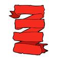 comic cartoon heraldic scroll banner vector image