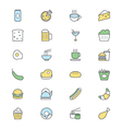 Food Colored Icons 3 vector image