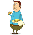 Man eating vector image