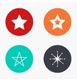 modern star colorful icons set vector image