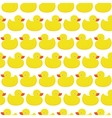 Rubber duck white pattern vector image