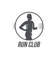 run club logo logotype template with jogging man vector image