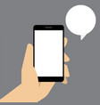 smart phone with speech bubble in hand vector image