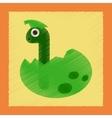 flat shading style icon cartoon dinosaur egg vector image