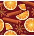 Seamless orange and spices vector image