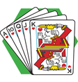 Straight flush card game vector image vector image