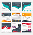 company flyer templates set vector image vector image