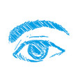eyes drawing sketch vector image