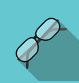 glasses with long shadow vector image