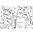school or office supplies vector image