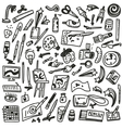 paint tools - doodles vector image