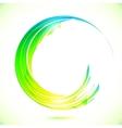 Abstract shining greencircle modern frame vector image