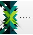 Futuristic blue and green color shapes vector image vector image