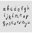alphabet watercolor transparency vector image