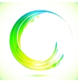 Abstract shining greencircle modern frame vector image
