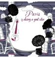 Background with Paris and gramophones vector image