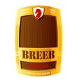 beer label design vector image