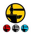 Blacksmithing emblem Logo for smithy Wrought iron vector image