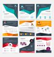 company flyer templates set vector image