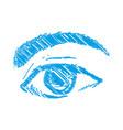 eyes drawing sketch vector image