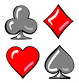 Four card suits Cards deck vector image