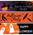 Halloween horizontal banners with holiday vector image