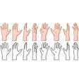 Hand 360 Turn Around Rotation View vector image