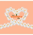 Happy Mothers Day concept background Heart of vector image