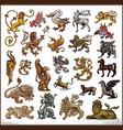 heraldic beast collection vector image