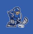 kid playing hockey ice vector image