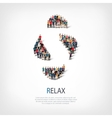 relax people sign 3d vector image
