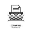 typewriter line logo vector image