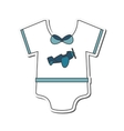 Baby onesie icon vector image