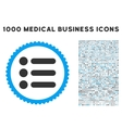 Items Icon with 1000 Medical Business Pictograms vector image