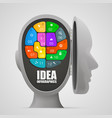 puzzle brain in an open head vector image