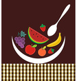 Contemporary fruits composition vector image vector image