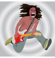 The guitarist in a jump vector image vector image