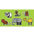 Asian animals vector image vector image
