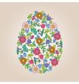 Flower tracery egg vector image