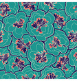 Beautiful floral seamless pattern Garden blossom vector image
